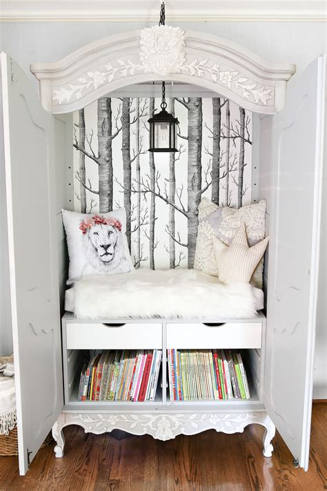 Home Wardrobe by Diy Narnia Wardrobe Reading Nook Bless Er House