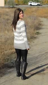 Women Wearing Boots And Leggings With Original Trend In Uk | sobatapk.com