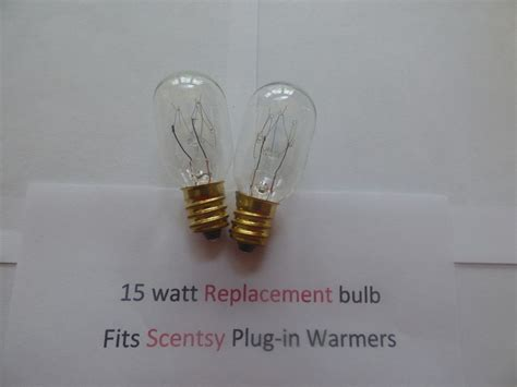 Candle Warmer L Replacement Bulb by 2 Two Replacement 15 Watt Light Bulbs Fits In Scentsy