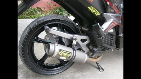 Yamaha Mio 125 Mx With Hgm Gunmetal Round Pipe