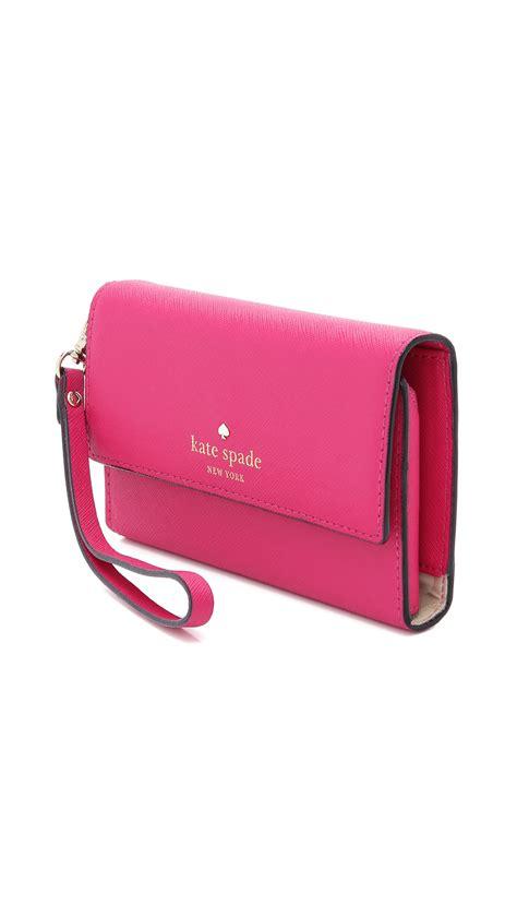 kate spade iphone wristlet kate spade pink cedar iphone 6 wristlet black