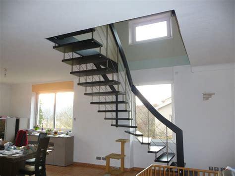 escalier moderne quart tournant ranpe d escalier inox drome