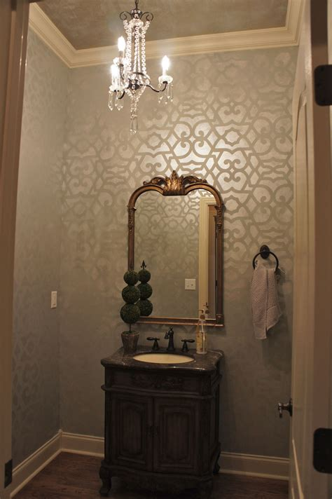 Bathroom Stencil Ideas by Stencil Painting By Tucker Decorative Finishes