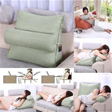 pillow for reading in bed bedrest adjustable pillow back support tv reading bed rest