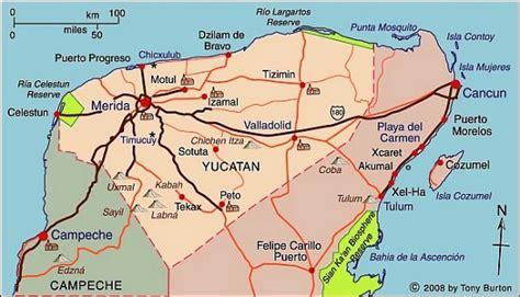 merida mexico map yucatan