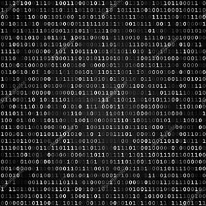 Binary code screen black — Stock Vector © iunewind #43069097