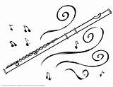 Flute Magic Coloring Pages Drawing Music Band Instruments Musical Prezi Colouring Sheets Notes sketch template