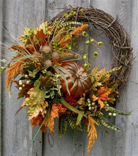 a fall wreath fall wreath autumn wreaths thanksgiving harvest pumpkin
