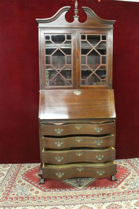 secretary colonial reproductions bookcase chippendale