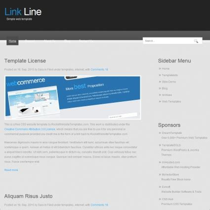 Link Line Template Free Website Templates In Css, Html, Js