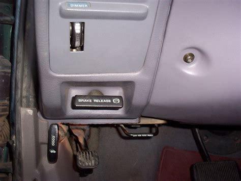 parking brake taurussable encyclopedia