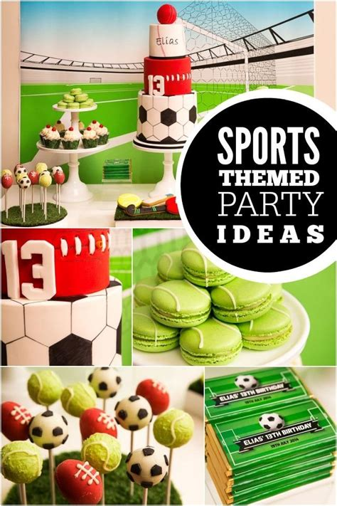 sports themed boys st birthday party spaceships