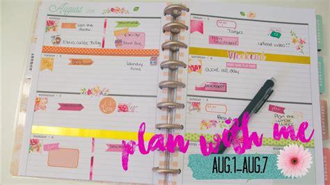 plan    happy plannerhorizontal layout youtube