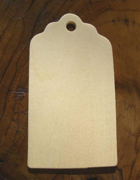 unfinished wood hang tags  pack