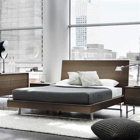 modern wood floating platform bed bedroom set