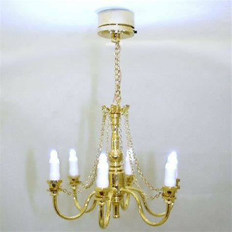 Battery Chandelier by Golden Candle Chandelier Battery Operated 1 12 Dollhouse