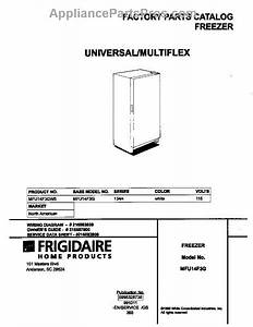 Parts For Frigidaire Mfu14f3gw5  Cover Parts