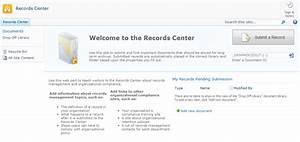buy the outcome 2010 record center With document library organization
