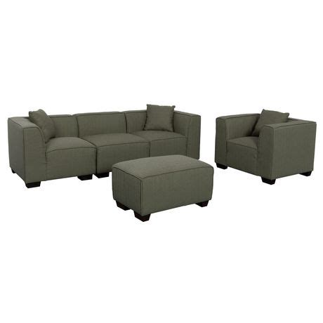 Gray Sectional Sofa Walmart by Corliving Lida Greenish Grey Fabric 5 Sectional Sofa