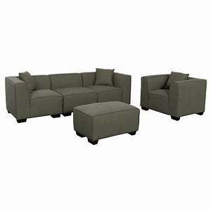 corliving lida greenish grey fabric 5 piece sectional sofa With walmart grey sectional sofa