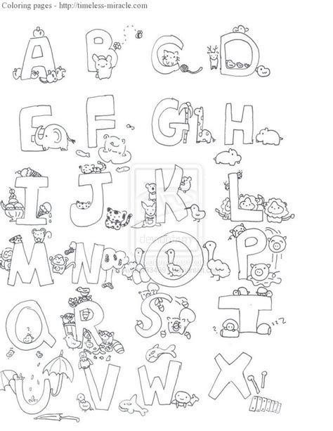 alphabet animal coloring pages timeless miraclecom