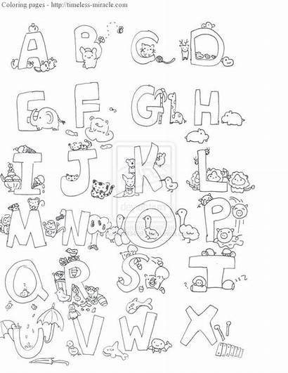 Alphabet Coloring Pages Animal Abc Sheets Hebrew