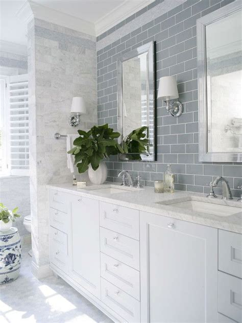 bathroom glossy white finish beveled ceramic subway tile