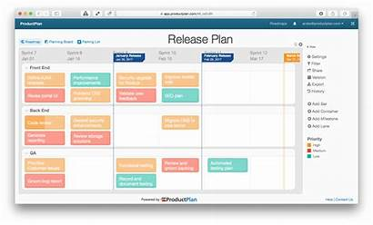 Roadmap Release Plan Productplan Template Saas Agile