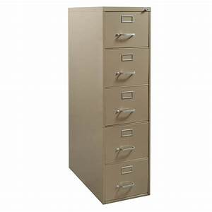 steelcase used 5 drawer letter vertical file cabinet tan With letter storage cabinet
