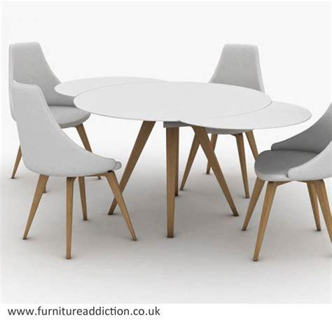 peressini myles circular extending glass dining table