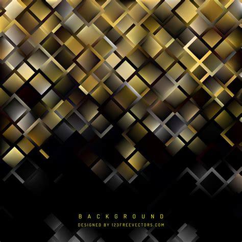 Abstract Black Background Design by Abstract Black Gold Square Background Design