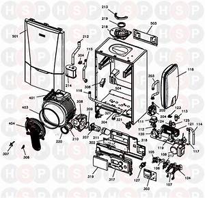 Ideal C40 Combi  Boiler Exploded View  Diagram