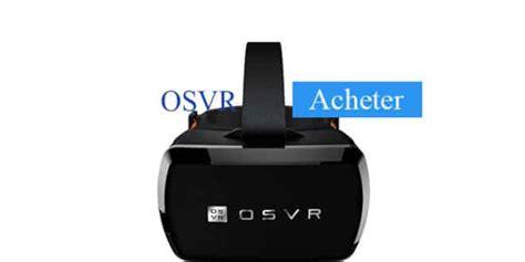 acheter un pc de bureau acheter razer osvr le casque de réalité virtuelle de razer