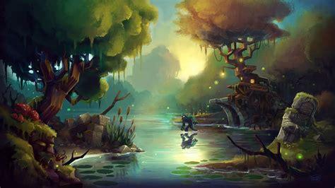 hytale art timelapse zone  swamp youtube