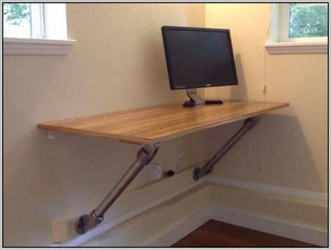 how to make a wall mounted desk wall mounted computer desk diy desk home design ideas