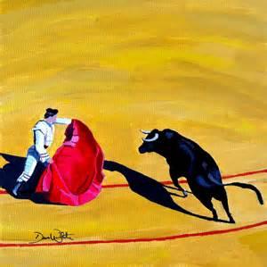 spanish bullfight painting children 39 s artist dave white