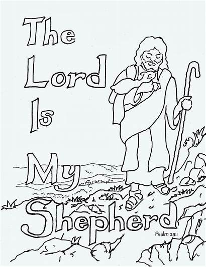 Lord Shepherd Coloring Pages Psalm Bible Clip