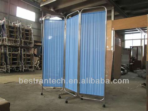 3 panel room dividers hospital partition screen