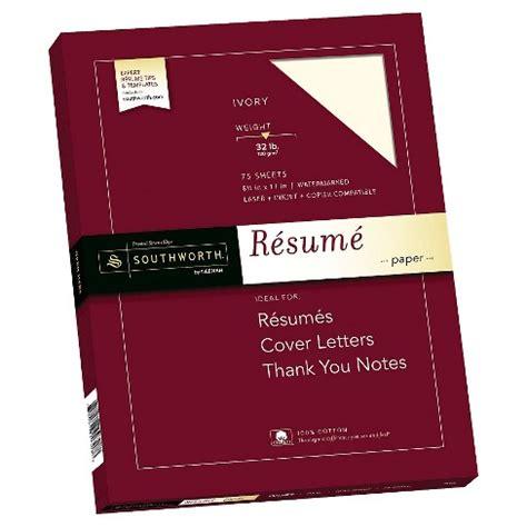"""Southworth® 100% Cotton Résumé Paper, 85"""" X 11"""", 32lb"""