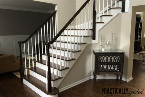 sanding banister spindles painted stairs and other great staircase makeovers