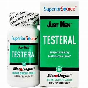 Superior Source Just Men Testeral Healthy Testosterone Level Support Dissolve Tablets Bodybuilding Program
