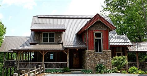 weathered red barnwood log home designs rustic home