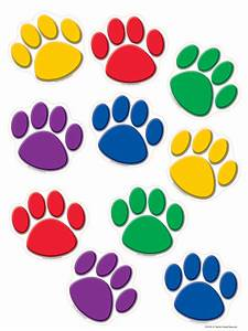 Colorful Paw Prints Accents - TCR4114 Teacher Created