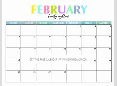 Free Printable 2018 Calendar Pretty and Colorful!