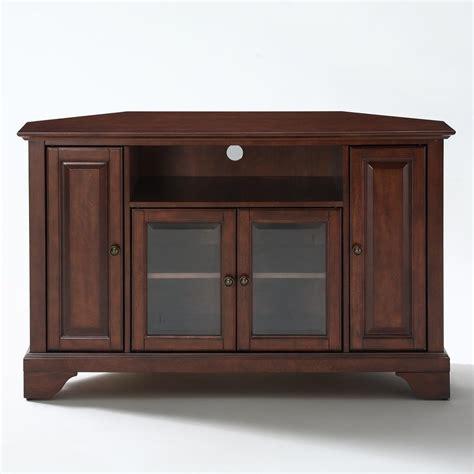 mahogany media cabinet shop crosley furniture lafayette vintage mahogany corner 3964