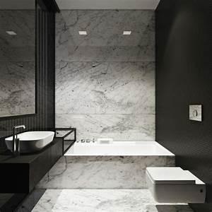 modele carrelage salle de bain noir et blanc kirafes With modele carrelage salle de bain noir et blanc