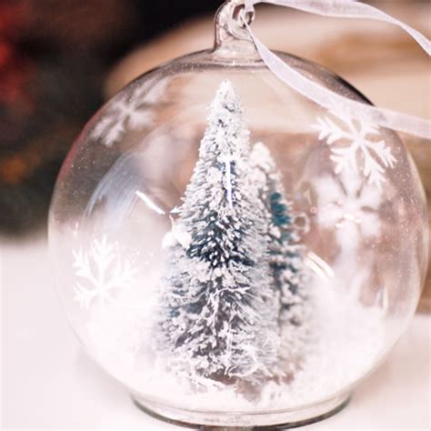 glass hanging christmas tree decoration bauble filled