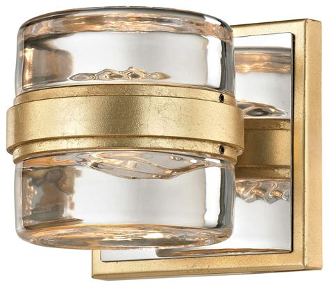 Gold Bathroom Vanity Lights by Splash 1 Light Bathroom Vanity Lights Gold Leaf And