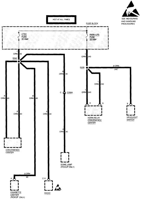 1992 Chevy Suburban Fuse Box Diagram by On A 1994 Chevy Suburban Courtesy Fuse Blows Immediately