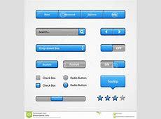 Clean Light Blue User Interface Controls Web Elements